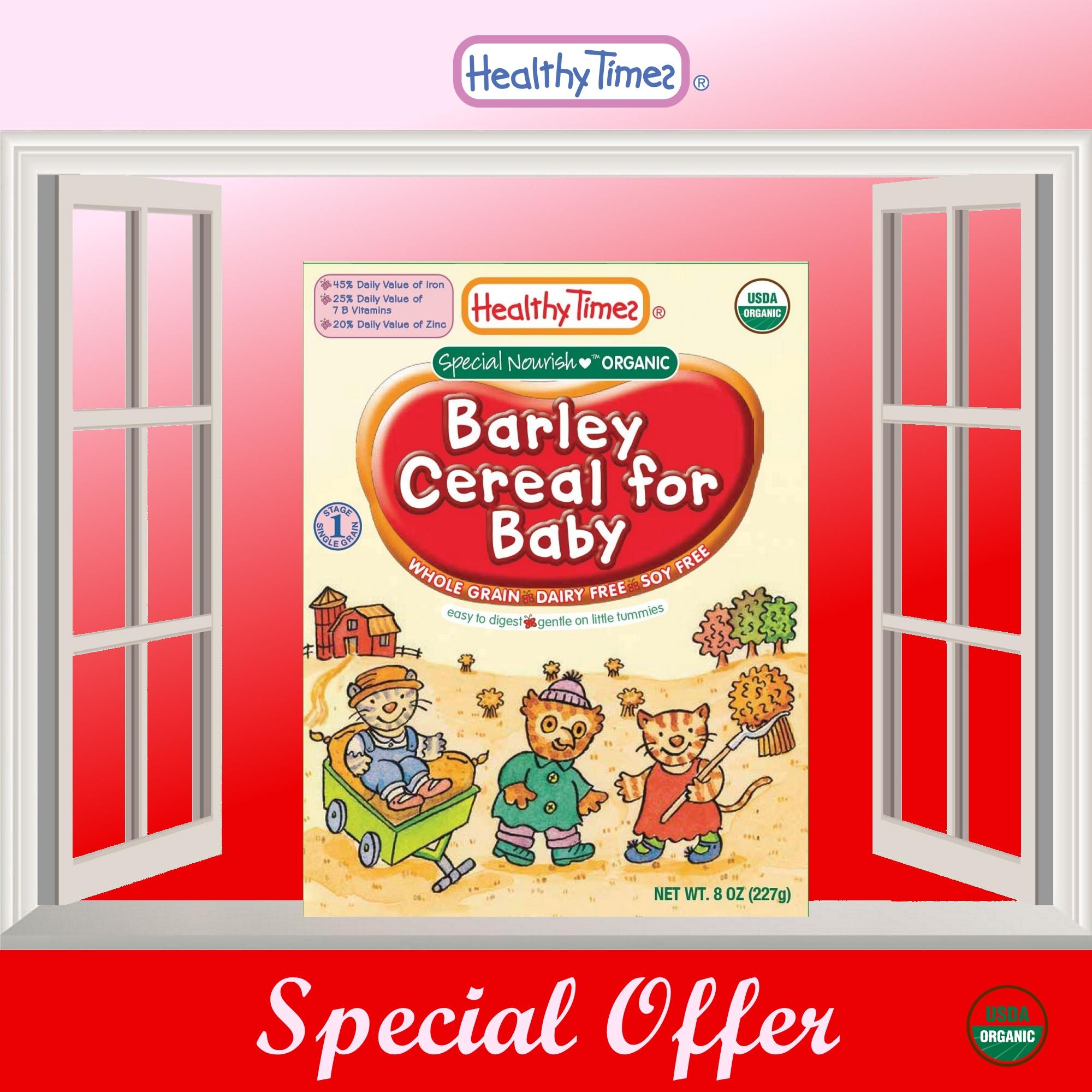 Low Cost Expiry 18 Dec 2018 Without Outer Box Due To Dented Packaging 2 X Organic Barley Cereal For Baby 6 Months
