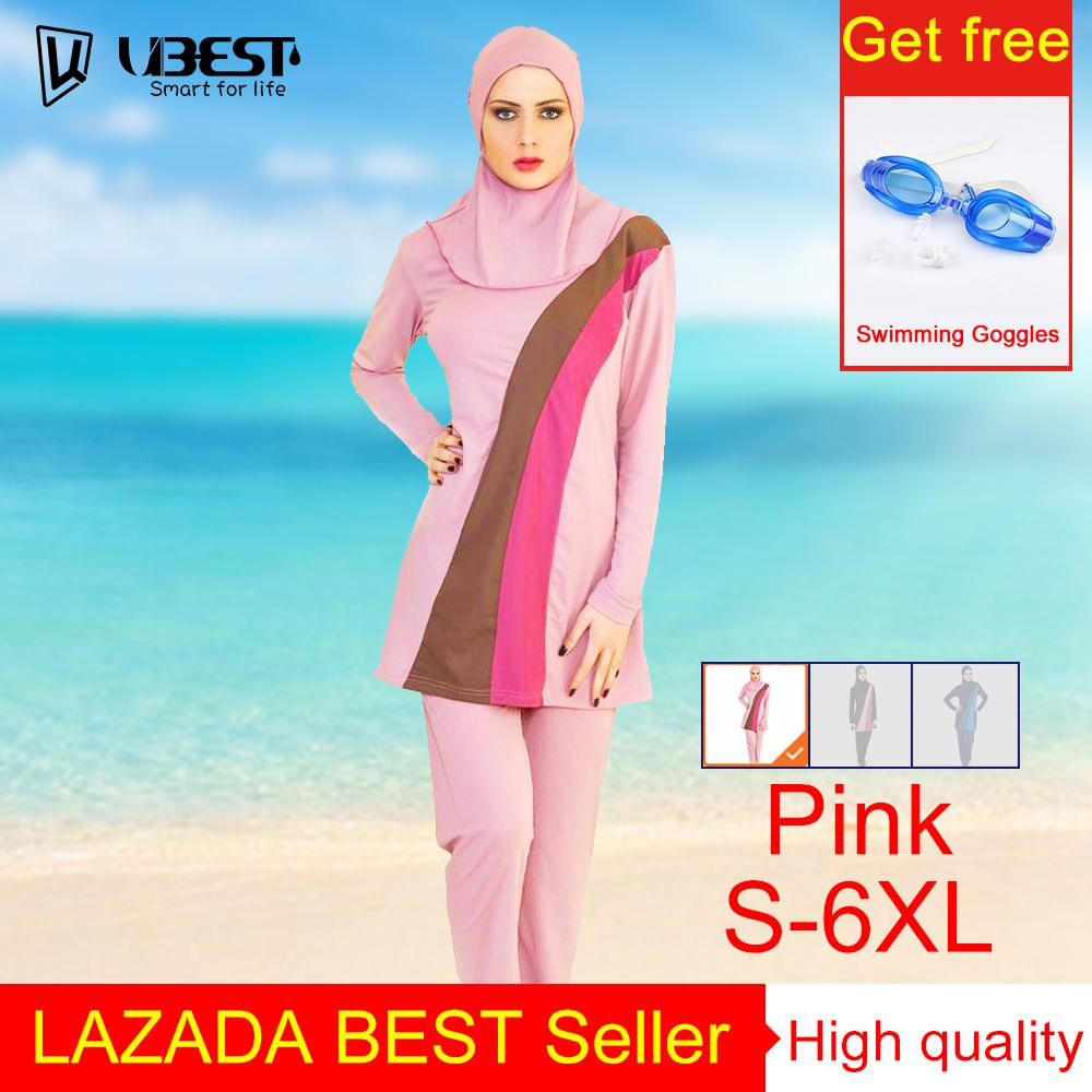 Modest Muslim Swimwear Islamic Swimsuit for Women Hijab Swimwear Full Coverage Swimwear Muslim Swimming Beachwear Swim Suit