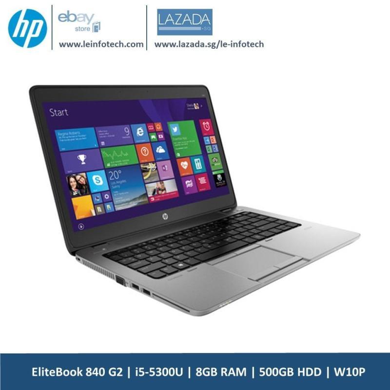 HP Elitebook 840 G2 Notebook intel i5-5300U #2.2Ghz 8GB RAM 500GB HDD 14in intel HD 5500 W10P 30 Days Warranty Used