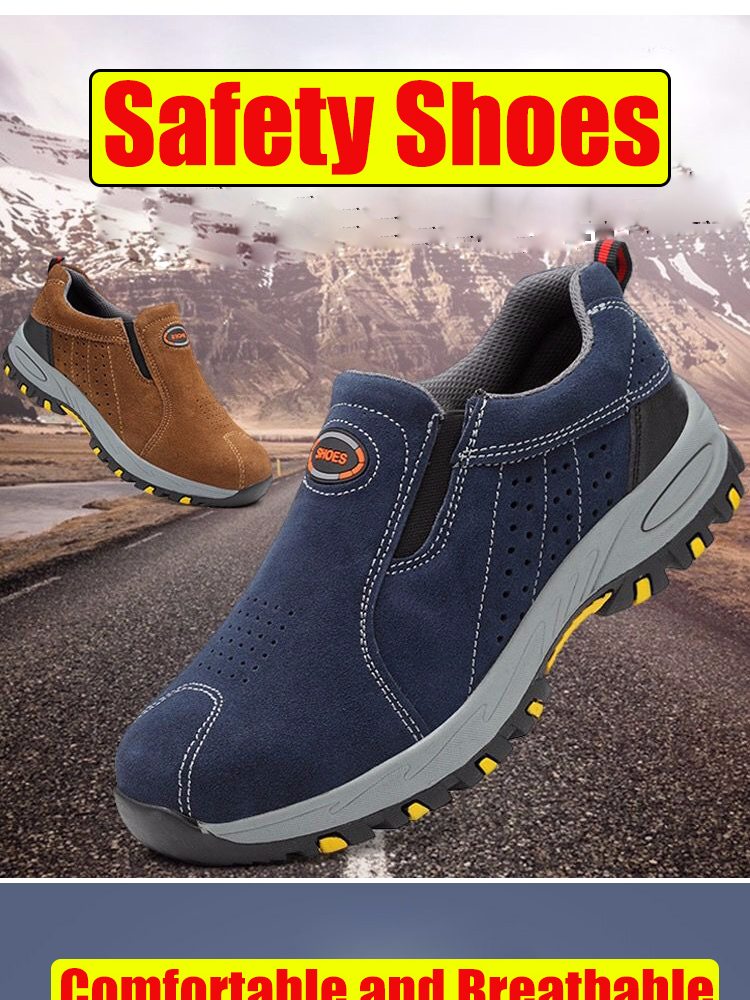 Specifications of YEALON Men Safety Shoes Pria Jogger Safety Shoes Wanita  Suede Cowhide Anti-piercing Rubber Shoes Safety Work Shoes Sepatu Safety  Shoes ... c40daf8995