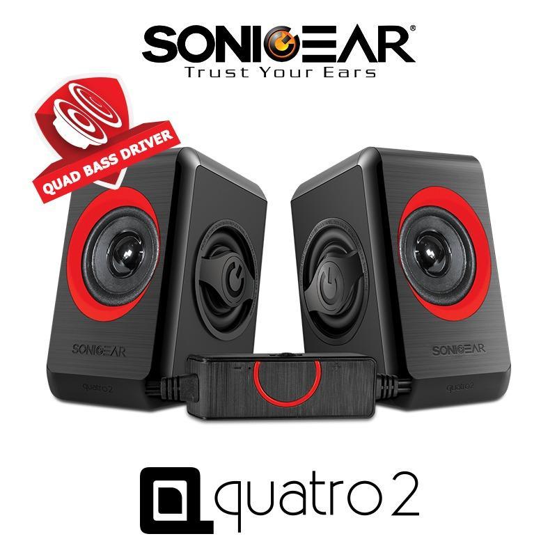 Wholesale Sonicgear 2 Speaker Quatro 2 Red
