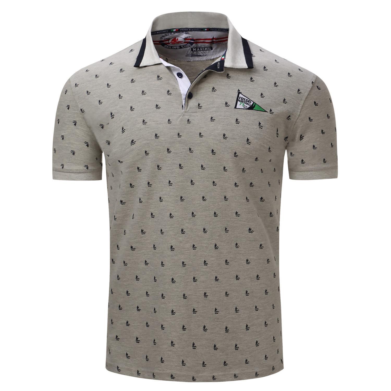 Katun Murni Pria Kaus Polo Crest Bordir-Internasional