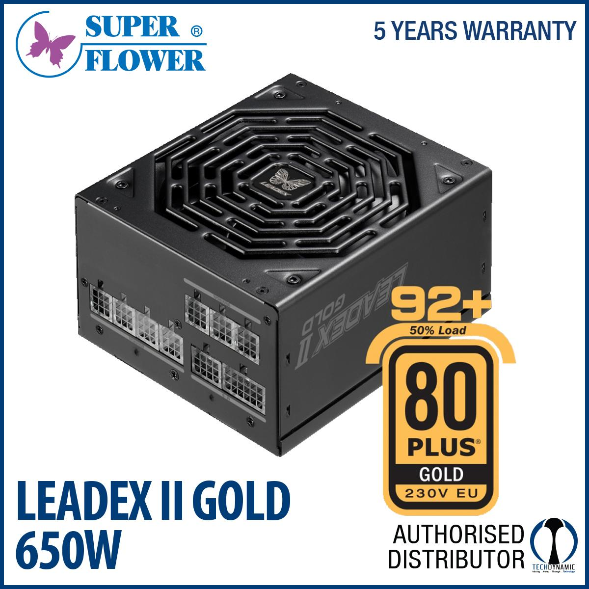 Price Superflower Leadex Ii Gold 90 Full Modular 650W Black Singapore
