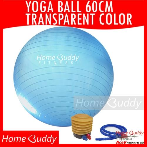 Top Rated Yoga Ball 60Cm Transparent Blue Or Orange Ball Only Or Ball Footpump Ready Stocks Sg Reach You 2 To 4 Work Days Homebuddy Acev Pacific