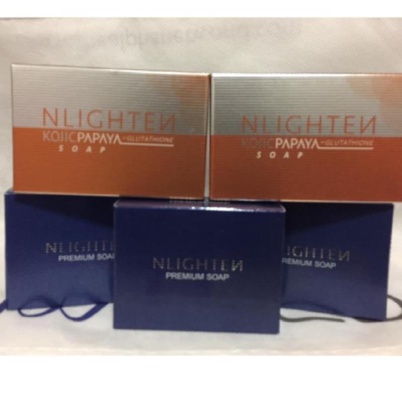 Buy 2 x 135g Kojic papaya soap with glutathione + 3 x 90g Premium Soap with collagen, argan oil and aloe vera Singapore