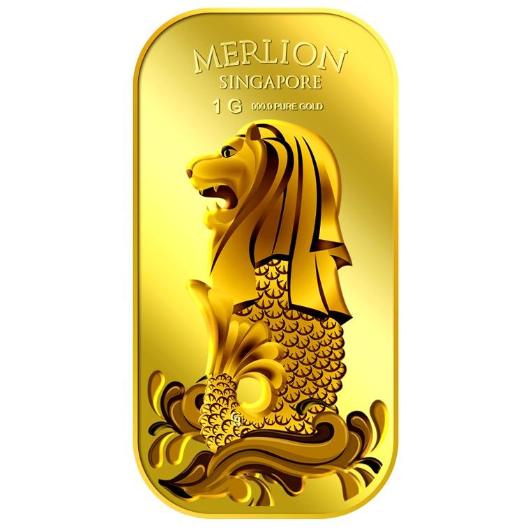 Get The Best Price For Puregold Singapore 1G Merlion Sea Gold Bar 999 9