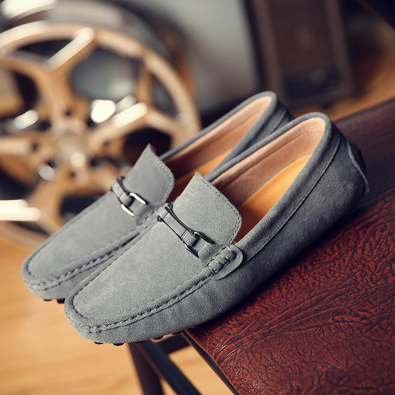 Men's casual Swede leather male New style loafers moccosins