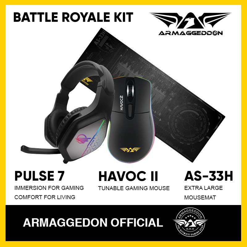 Armaggeddon Gaming Bundle Battle Royale Kit(Headset + Mouse + Mousemat)