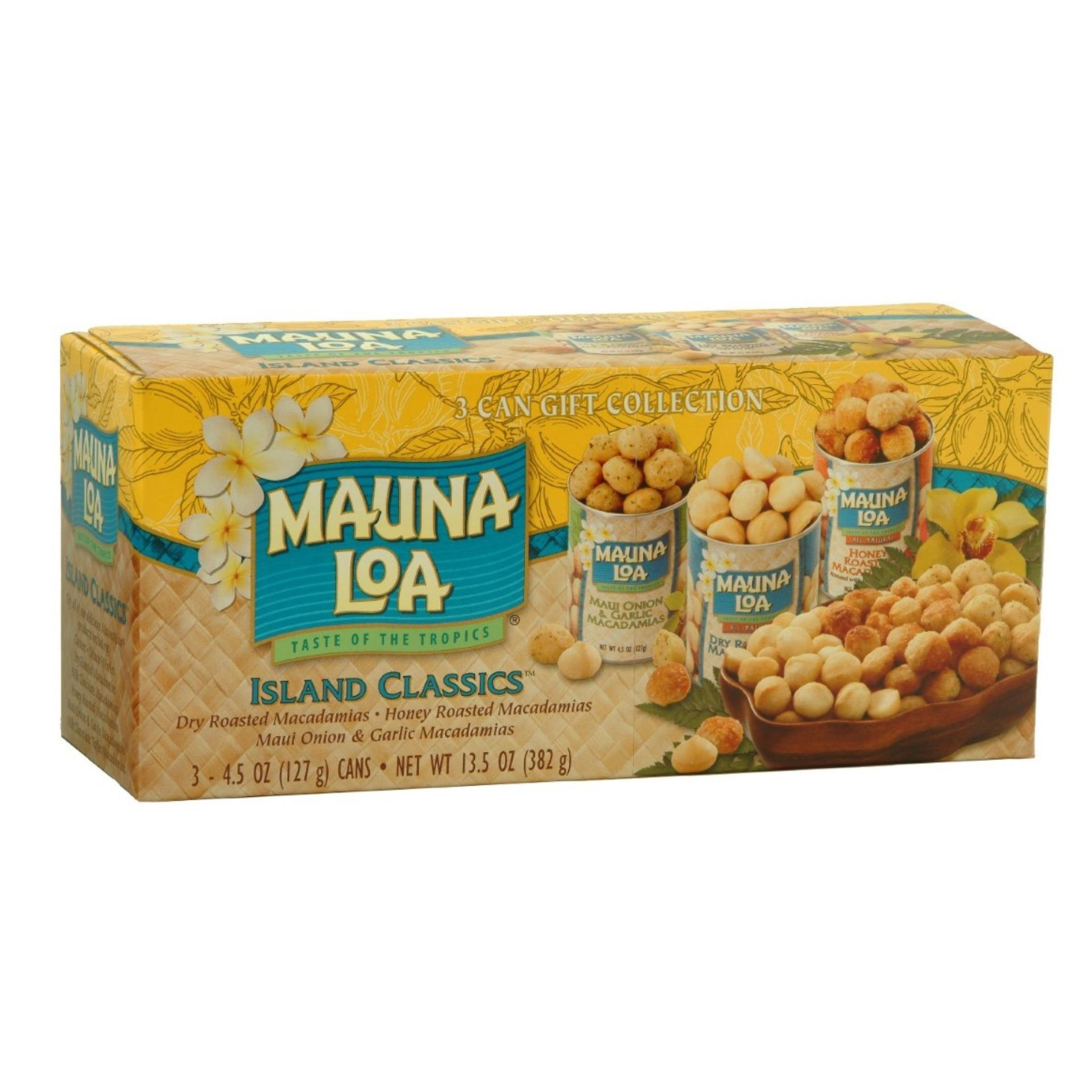 Buy Hawaii Mauna Loa Island Classic Gift Collection 3 Can Flavours Macadamia Nut Online Singapore