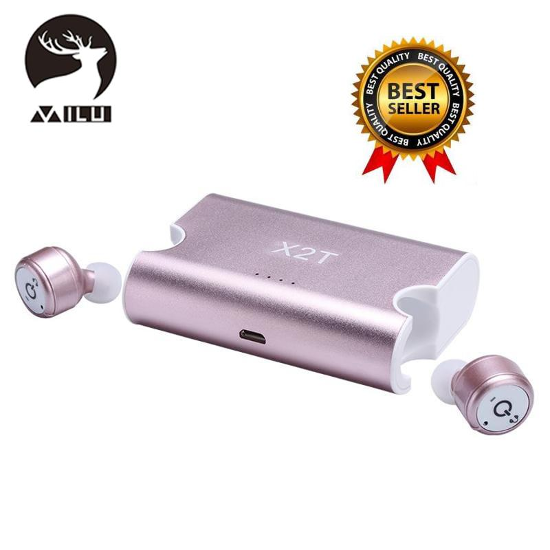 Shop For Milu X2T Mini Wireless Earbuds Bluetooth Csr4 2 Earphone Stereo With Magnetic Charger Box Case Intl