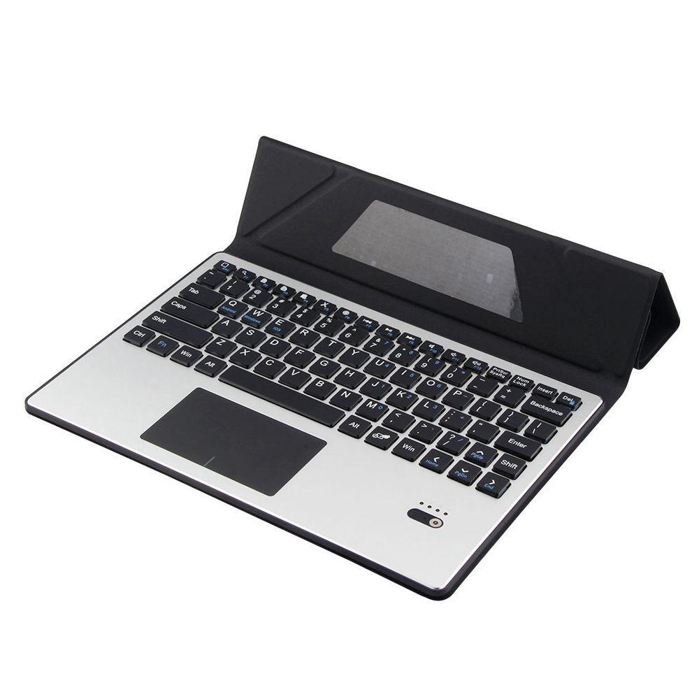 Untuk Alcatel Onetouch Plus 10 / Pop 10 / Pixi 3 10 Removable Bluetooth Touchpad Rusia / Spanyol Keyboard + PU Kulit Kasus Berdiri Penutup