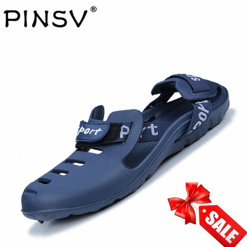 PINSV Pria Sandal Pantai Shoes Sandal Keren Non-slip Blue-Intl