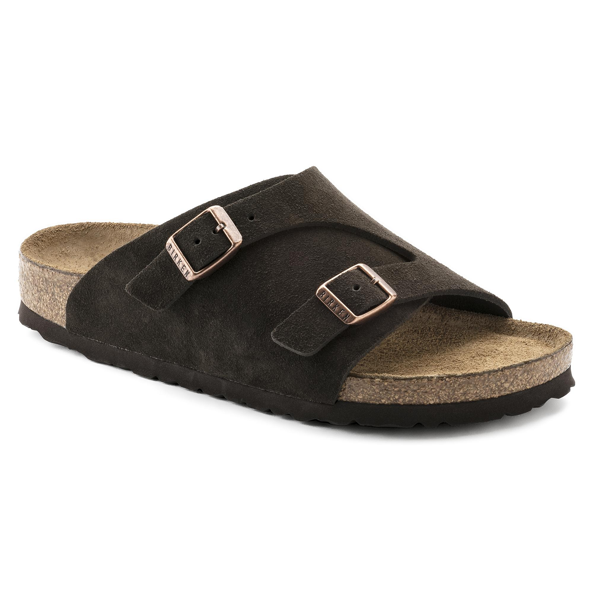 4e73635e0329 Birkenstocks Mens Zurich Soft Footbed Suede Leather Not Specified