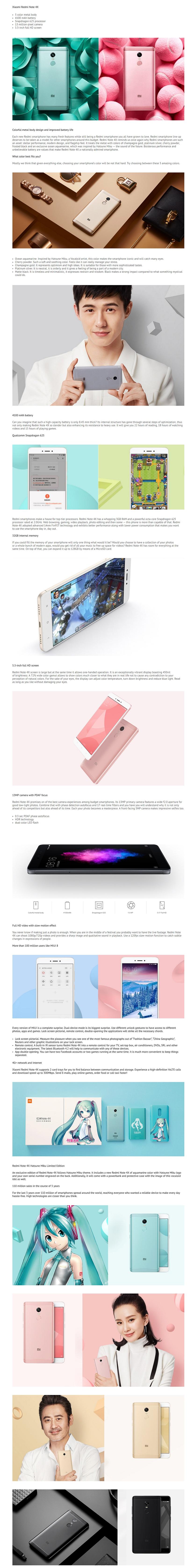Xiaomi Redmi Note 4x 3gb Ram 32gb International Rom Lazada Singapore Specifications Of