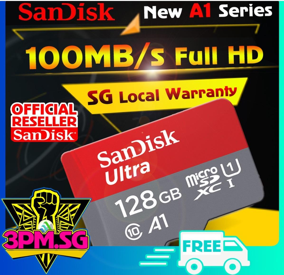 Sandisk Micro SD Card 100mb 128GB C10