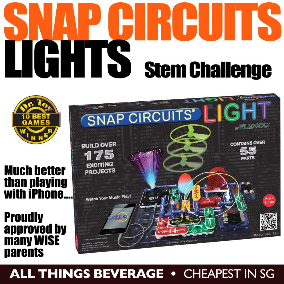 Elenco Snap Circuits Motion Electronics Discovery Kit Scm165 New Fm Radio Scp12 Lights Stem Toy