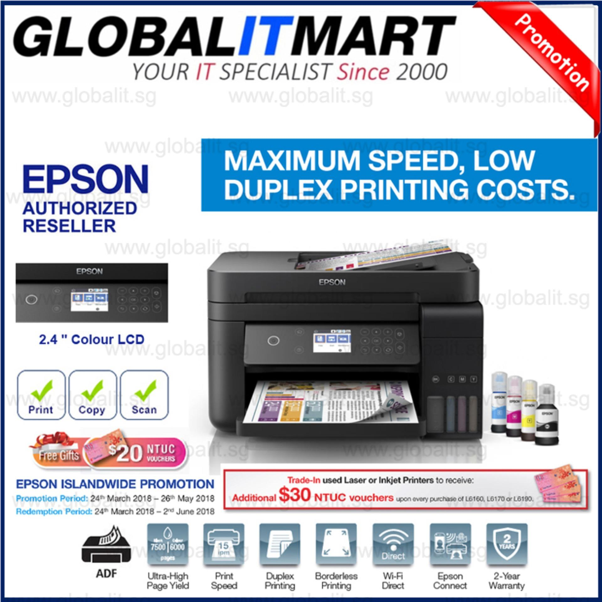 The New Price Of Singapore Warranty Epson L120 Ink Tank Printer Cartridge Lx310 L6170 Wi Fi Duplex All In One With Adf