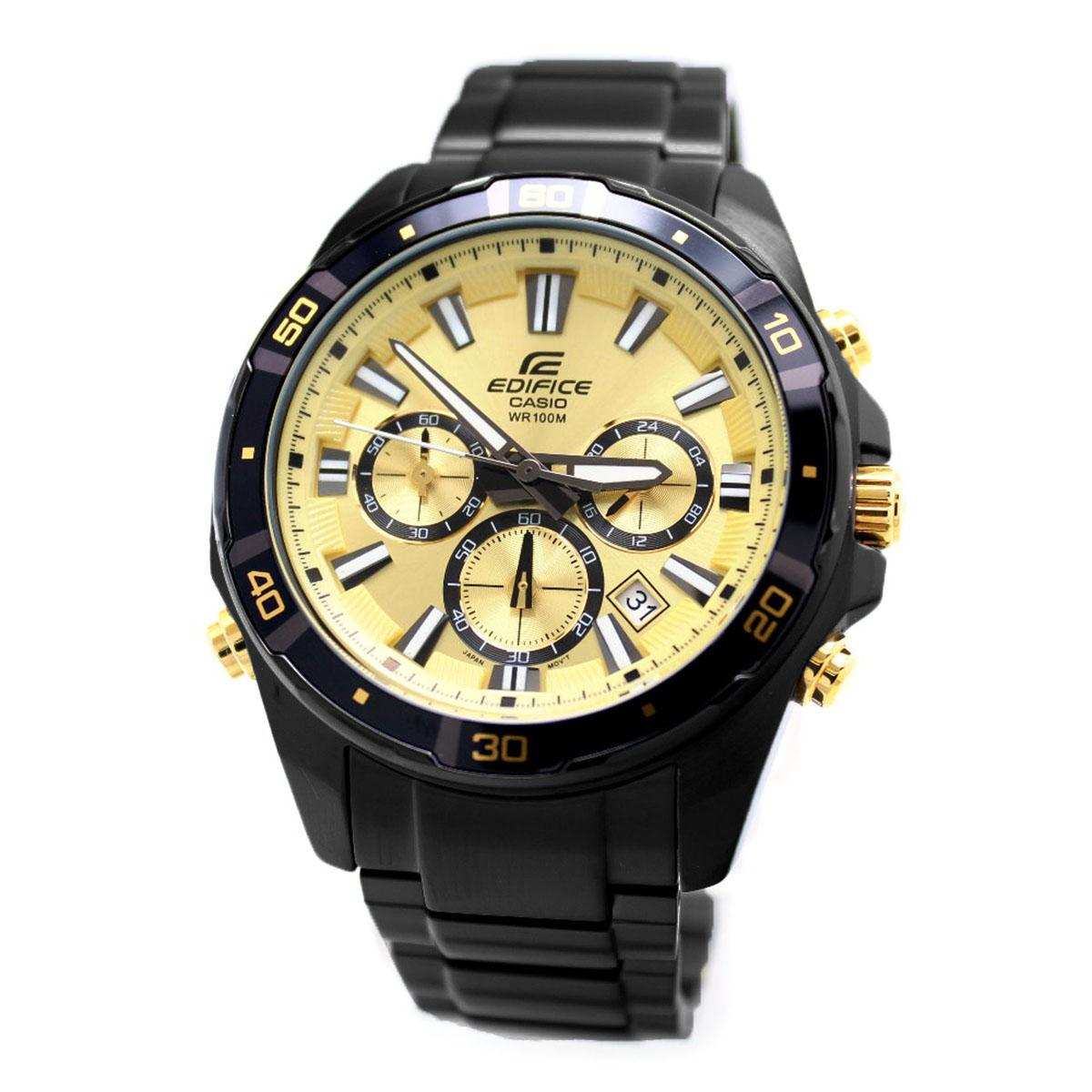 Compare Casio Casio Edifice Black Stainless Steel Case Stainless Steel Bracelet Mens Efr 534Bk 9A