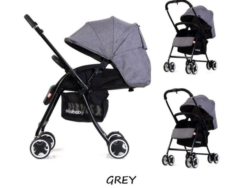 ★2018 new arrvial★ Authentic seebaby T09A lighter wider stroller/pram /one-second folding system Singapore