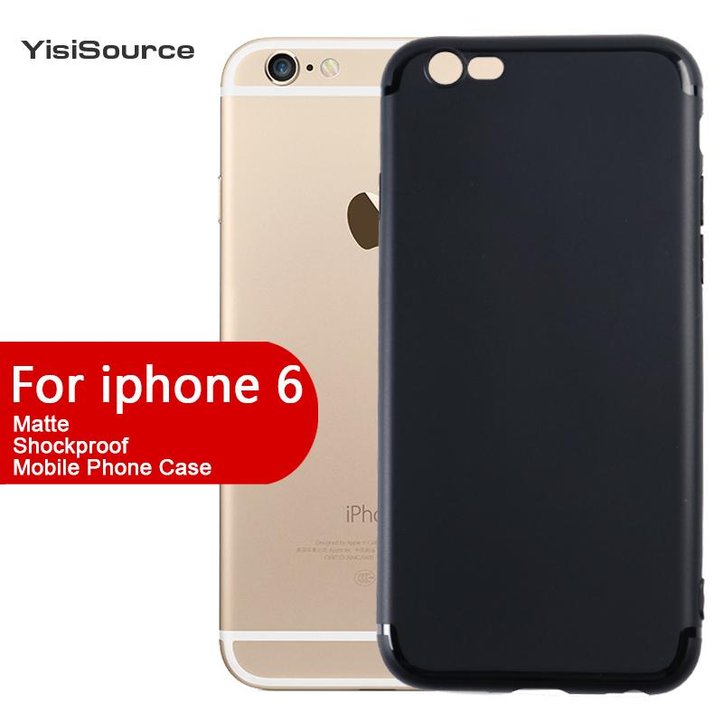 Untuk iPhone 6 Plus / 6s Plus Silicone TPU Kasus Telepon Terlaris Matte Cell Phone Cover
