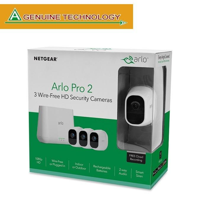 Deals For Netgear Arlo Pro 2 Smart Security System With 3 Cameras Pack Vms4330P