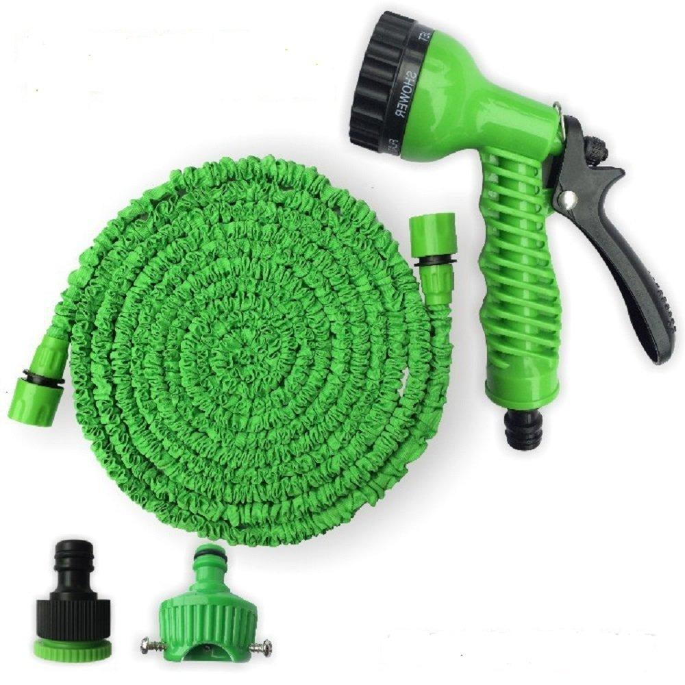 15m/50ft Magic Expandable Water Hose Stretchable Garden Pressure 7 Functions Spray Nozzle Gun Car Wash
