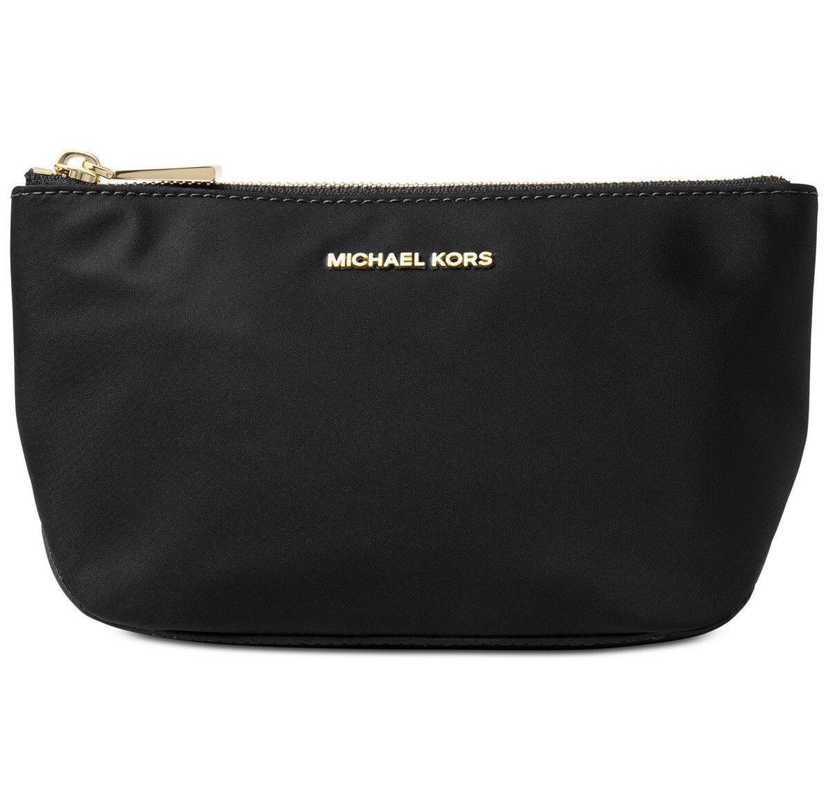 Michael Kors Penny Medium Travel Pouch Cosmetics Makeup Black 32f7gp4t2c