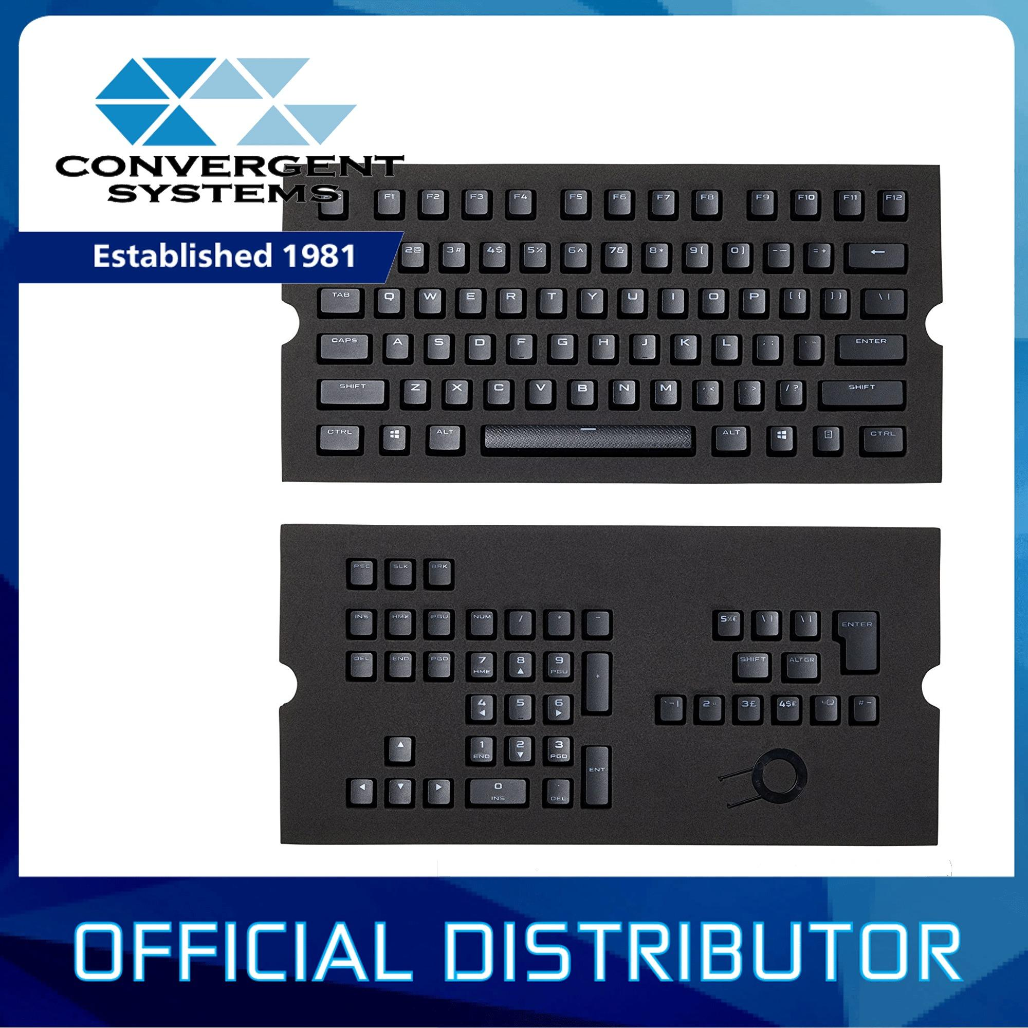 Corsair Gaming PBT Double-shot Keycaps Full 104/105-Keyset Singapore