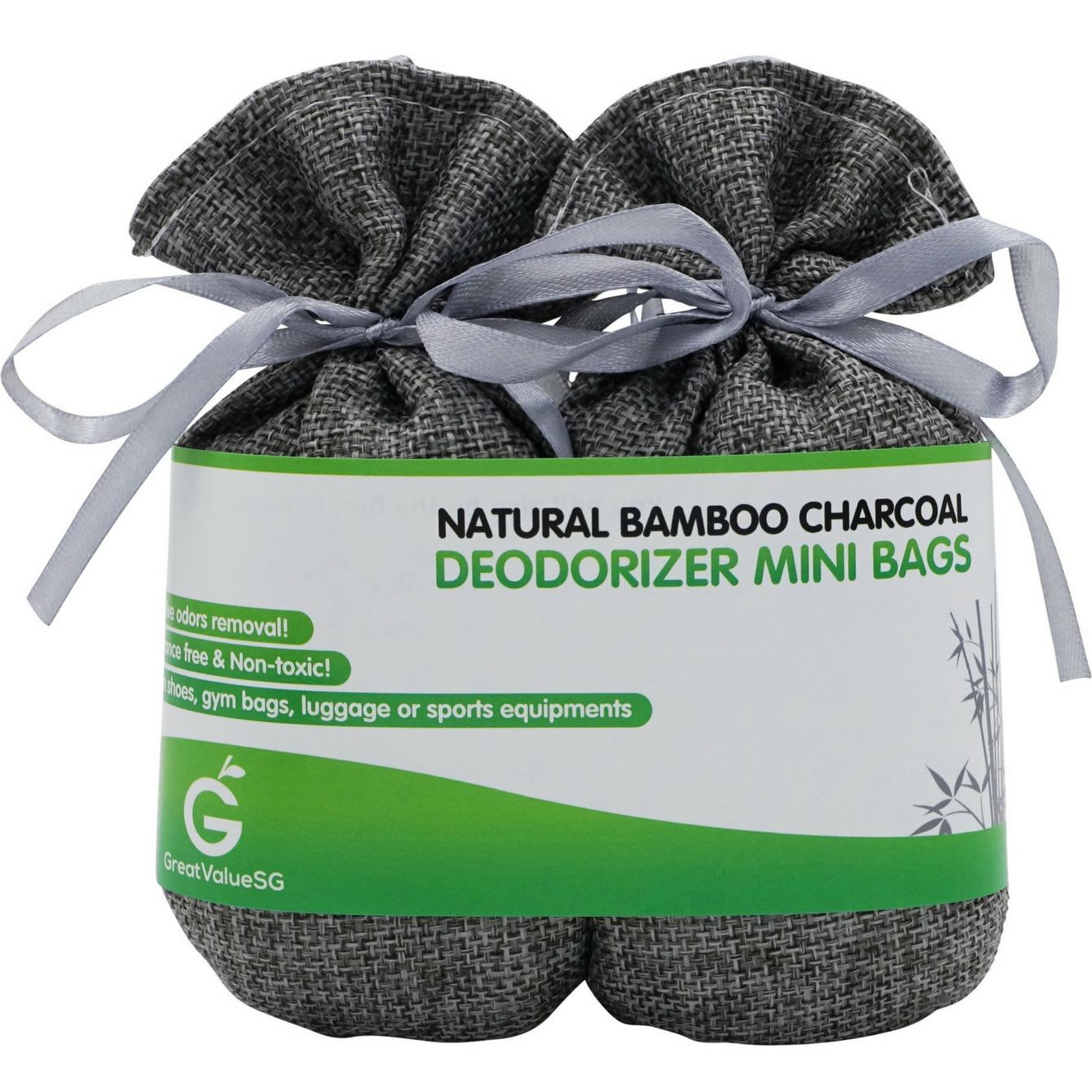 Top 10 Great Value Sg Natural Bamboo Charcoal Deodorizer Mini Bags Best Odor Eliminator And Moisture Absorber Keep Air Dry And Fresh Portable Perfect For Shoe Gym Bag Drawer And Locker