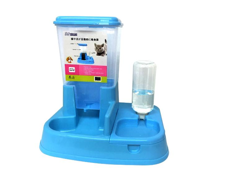 Lowest Price 2 In 1 Automatic Pet Cats Dogs Feeder Water Feeder