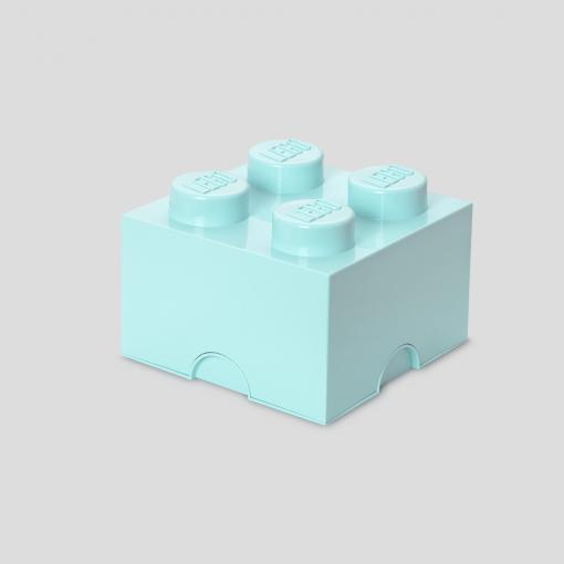 LEGO Storage Brick 4 (Aqua Light Blue)