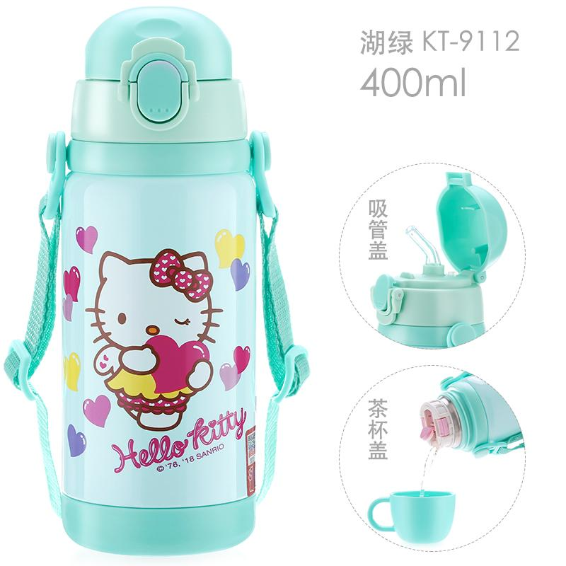 879b55695a4 Hello kitty Children Straw Insulated Cup Stainless Steel Girls  Shatter-resistant Children's Kettle Young Student's