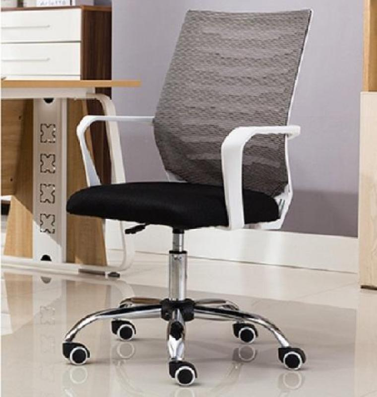 Ergonomic Mid-mesh office chair with Stainless Steel Dual Wheel Singapore