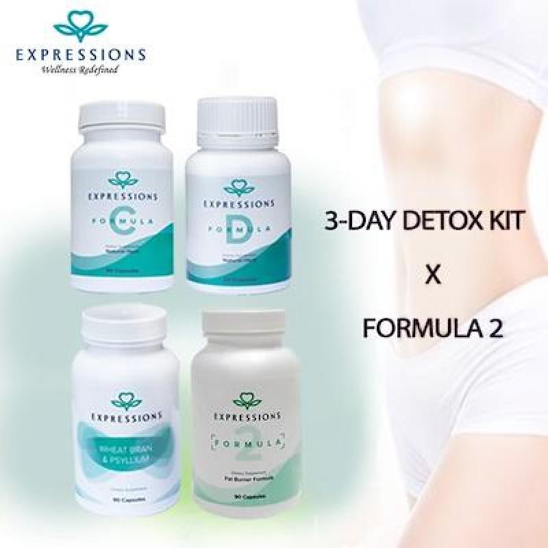 Buy Expressions Wellness Slimming Set  3-Day Detox Set + Formula 2  Fat Burner  Slimming  Detoxification Singapore
