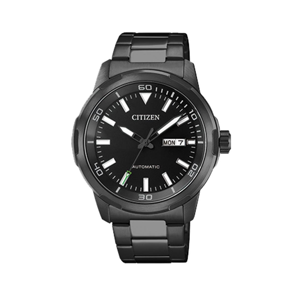 Cheapest Citizen Citizen Mechanical Black Stainless Steel Case Stainless Steel Bracelet Mens Nh8375 82E