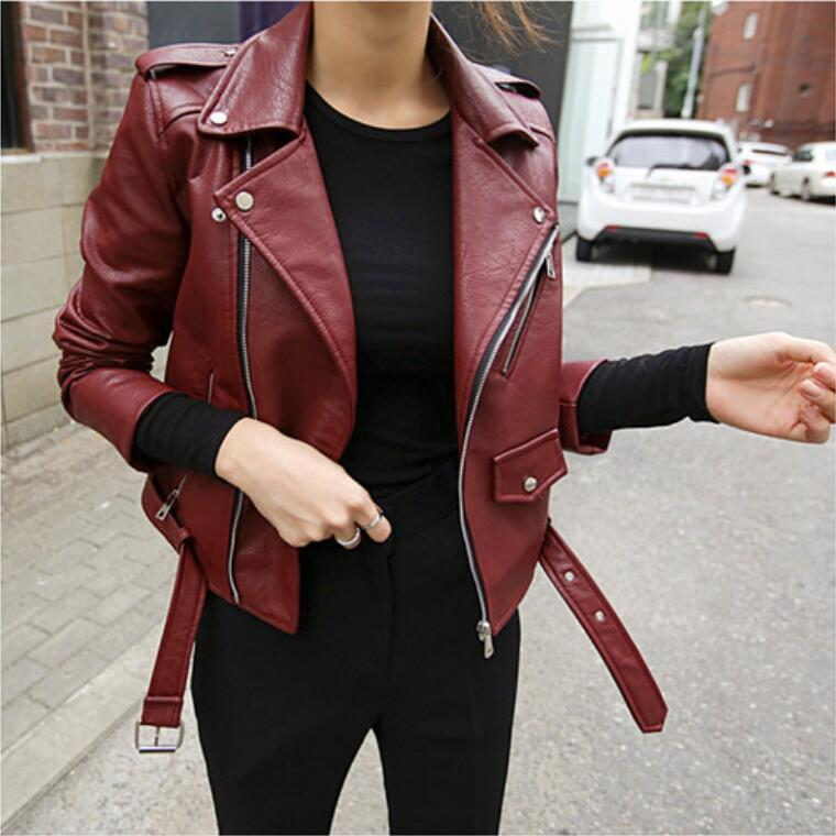 2bf362cb3b122 Every Day Special Korean Style Haining Small Leather Coat Female Short Pu  Coat 2017 Spring Clothing