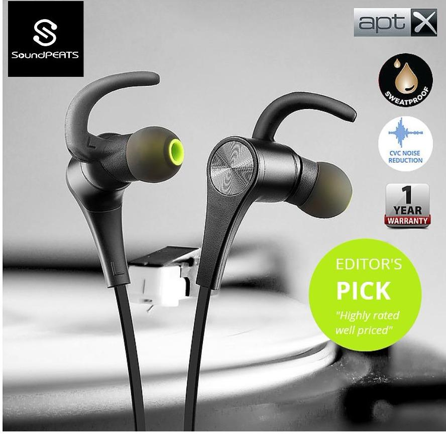 Soundpeats New Q12 Bluetooth 4 1 Magnetic Headphones In Ear Wireless Earbuds Ipx 6 Waterproof Sweatproof And Dust Proof In Ultralight Ergonomic Design With Handsfree Inline Mic For Sports 6 8Hours Play Time Secure Fit Active Noise Cancelling Review