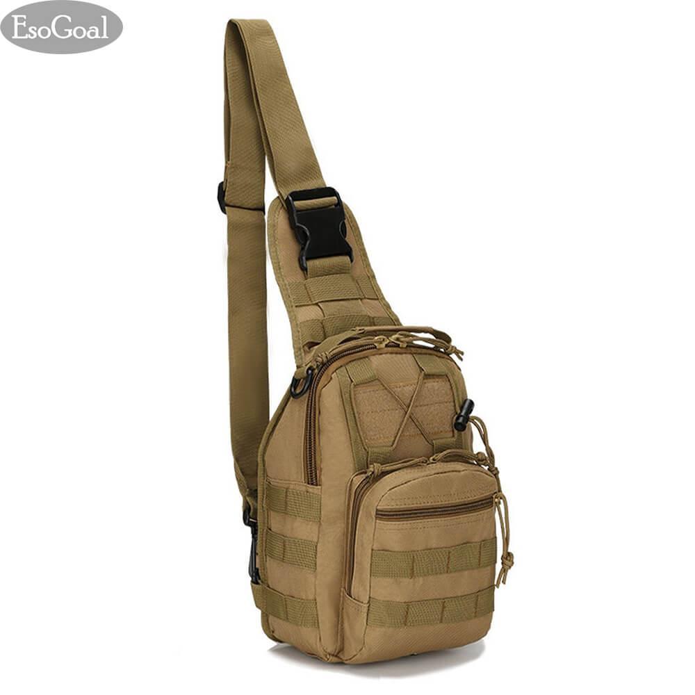 Esogoal Tactical Sling Bag Outdoor Chest Pack Shoulder Backpack Military Sport Bag For Trekking Camping Hiking Rover Sling Daypack For Men Women For Sale Online