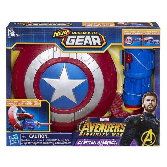 Promo Marvel Avengers Infinity War Nerf Assembler Gear Captain America