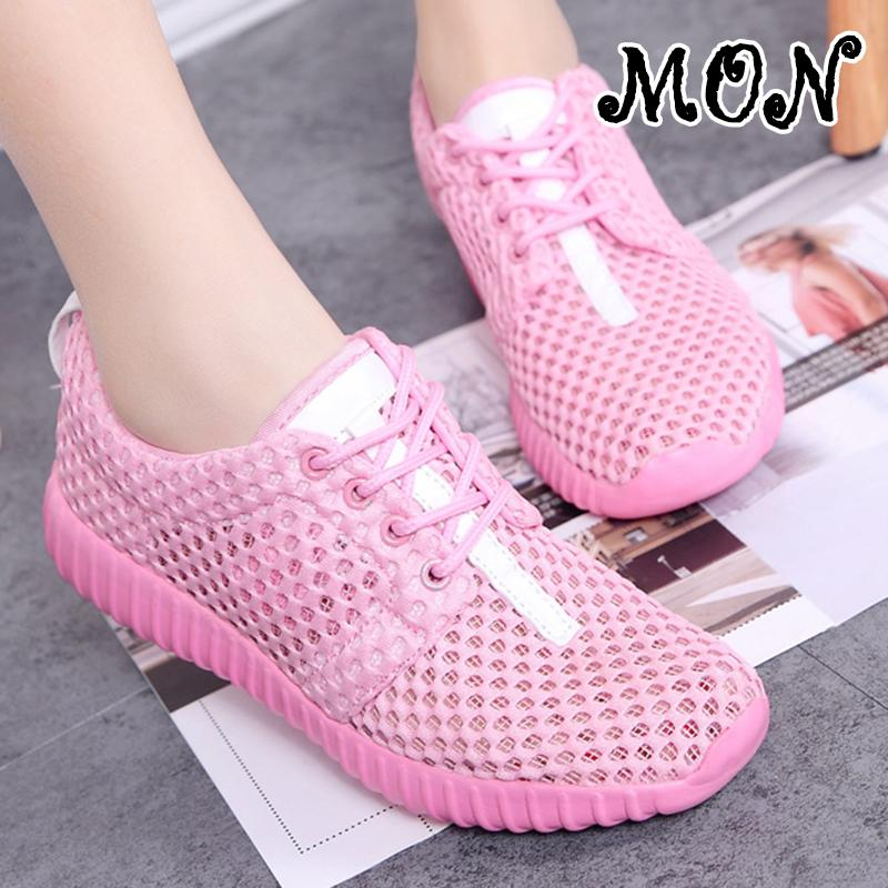 Mon Women Lightweight Mesh Casual Shoes Summer Outdoor Trend Sneakers In Stock