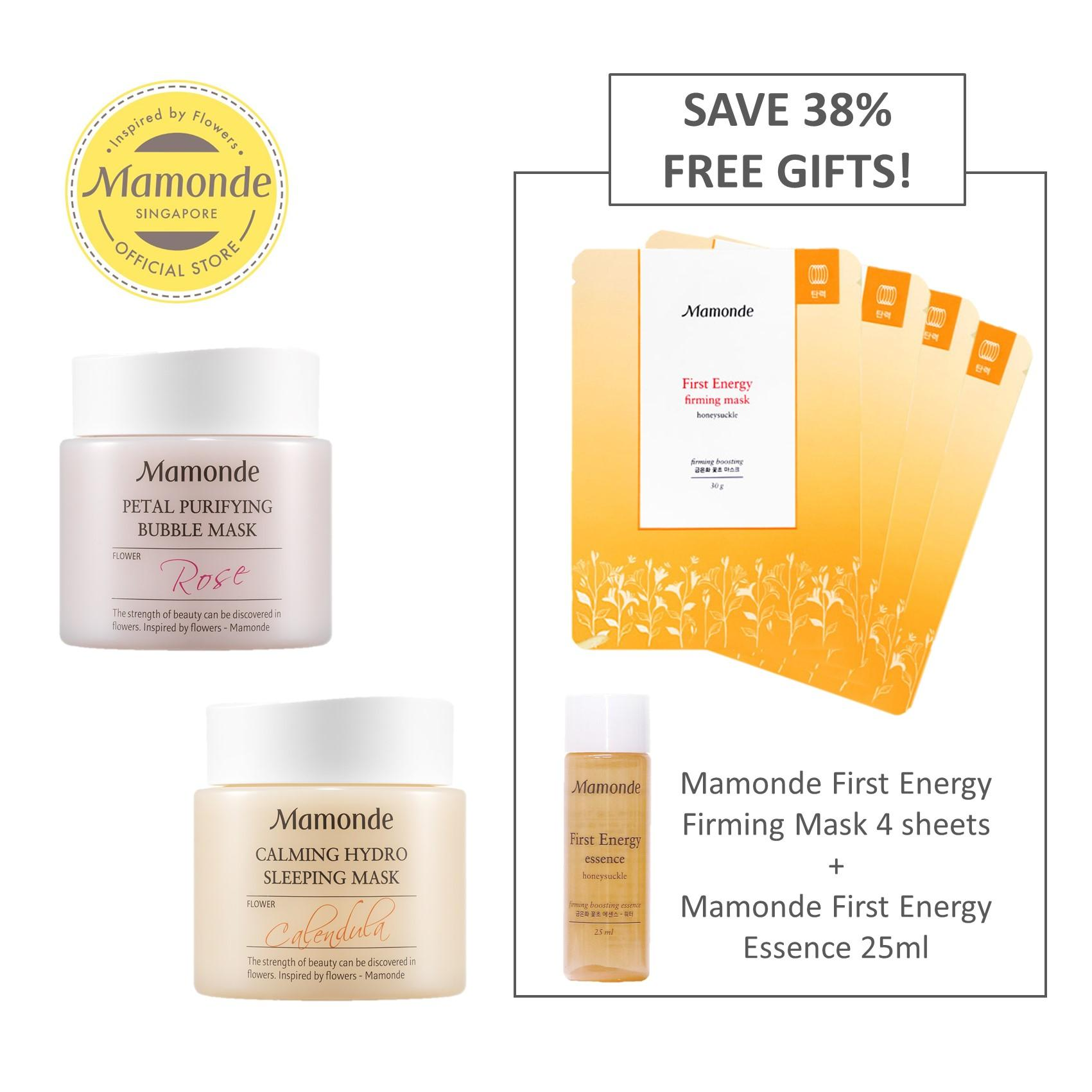 Sale Mamonde For Clean Healthy Skin Mask Set Calendula Rose Exclusive On Singapore