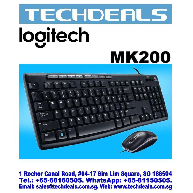 LOGITECH MK200 USB MEDIA DESTOP COMBO (3Y) Singapore