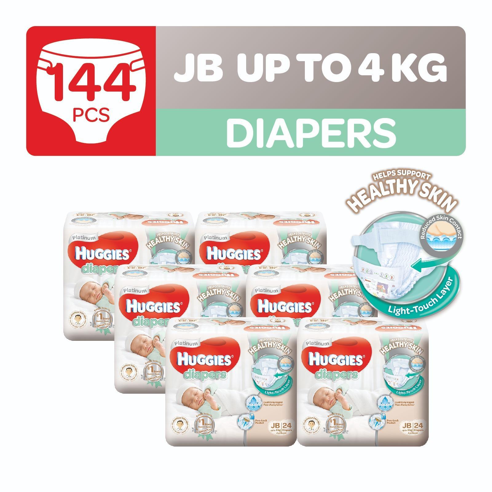 Huggies Platinum Diapers Just Born 24Pcs X 6 Lowest Price