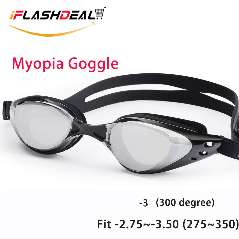 Iflashdeal Kacamata Renang Minus (myopia) Anti Fogging - Embun - Swim Goggles (-2.00 ~ -5.00) By Iflashdeal.