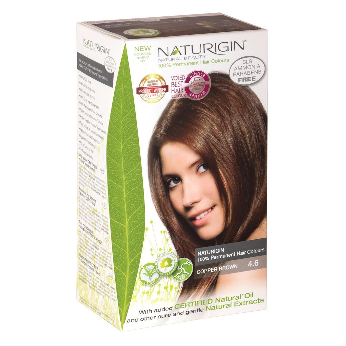 Buy Naturigin 4 6 Copper Brown 100 Permanent Organic Hair Colour Online Singapore