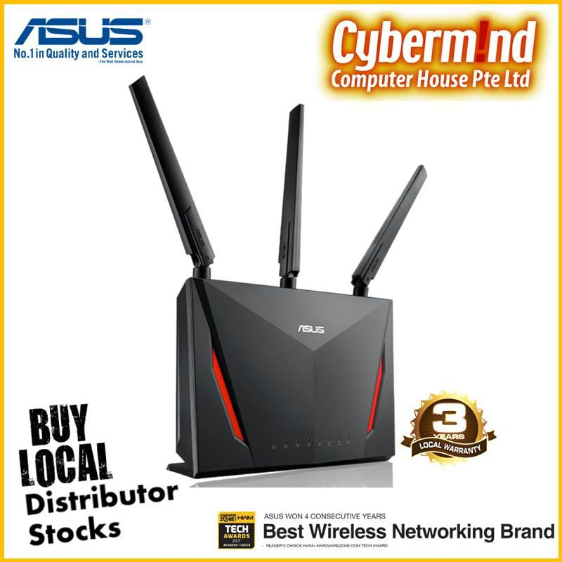 Buy Asus Rt Ac86U Ac2900 Dual Band Gigabit Wifi Gaming Router With Mu Mimo Aimesh For Mesh Wifi System Aiprotection Network Security By Trend Micro Wtfast Game Accelerator And Adaptive Qos Cheap On Singapore