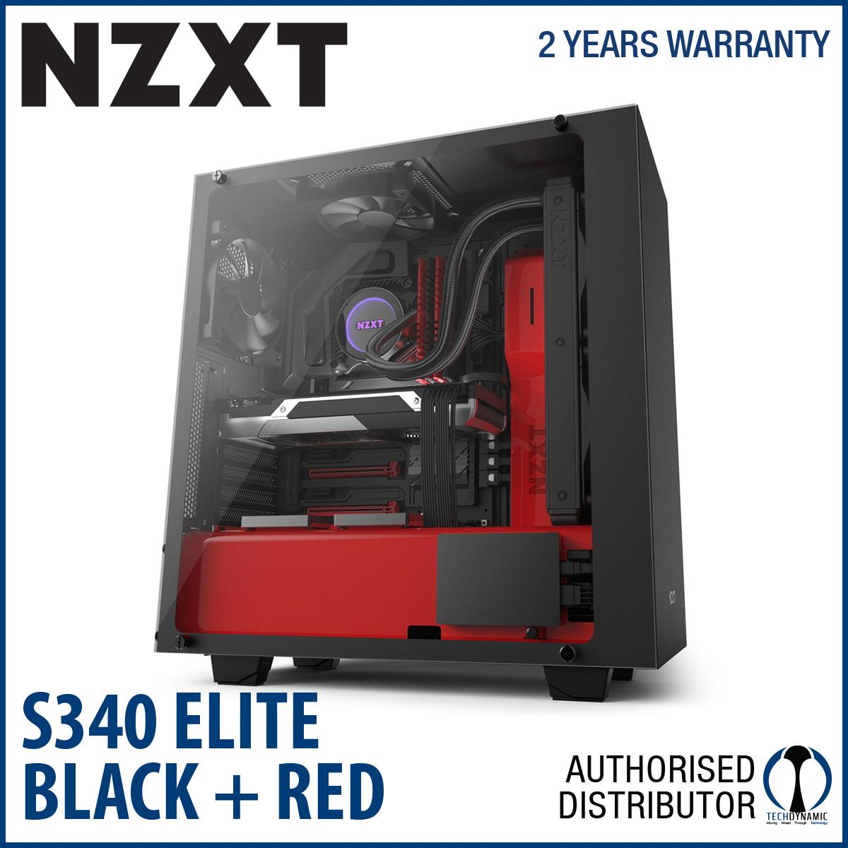 Shop For Nzxt S340 Elite Red Black