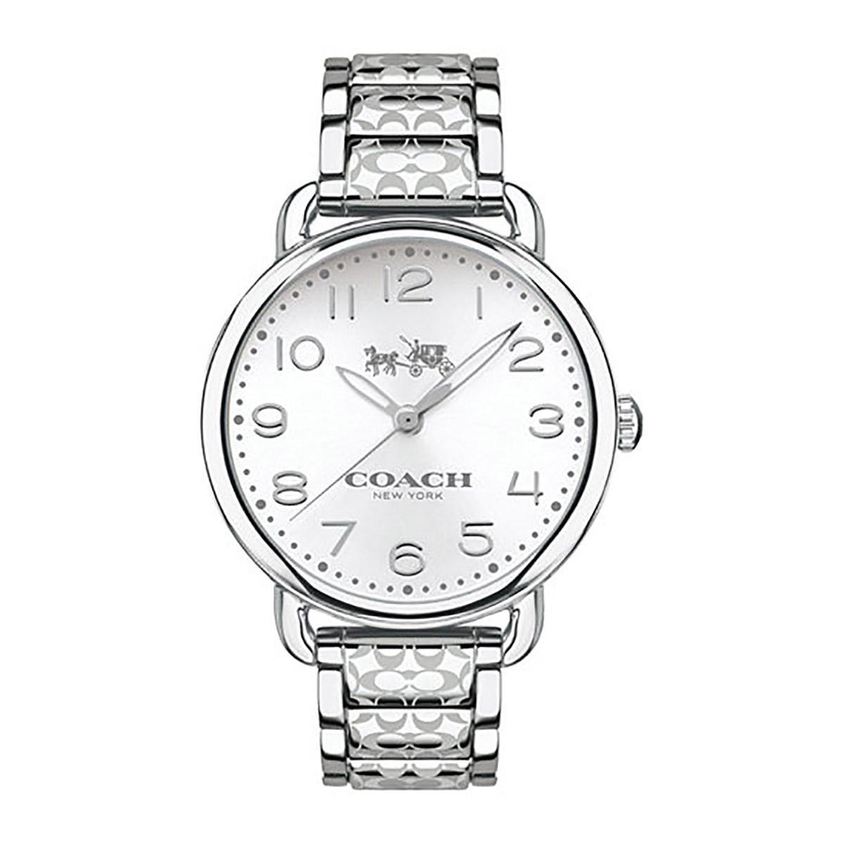 Sale Coach Watch Delancey Silver Stainless Steel Case Stainless Steel Bracelet Ladies 14502495 Coach