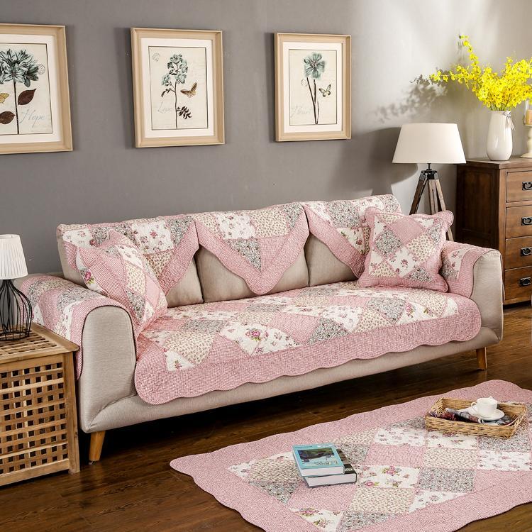 Gaya kebun Bisa Dipakai Empat Musim katun murni Model Korea Kain bantal sofa katun Kombinasi bantal