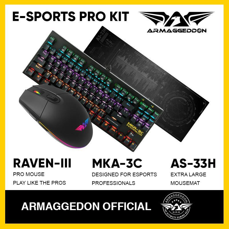 Armaggeddon Gaming Bundle E-Sports PRO KIT(Mouse+keyboard+mousemat) Singapore